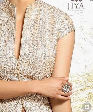 Zardosi Work on Lehenga blouse