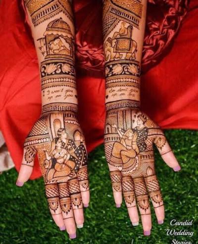 Pakistani bridal mehndi design