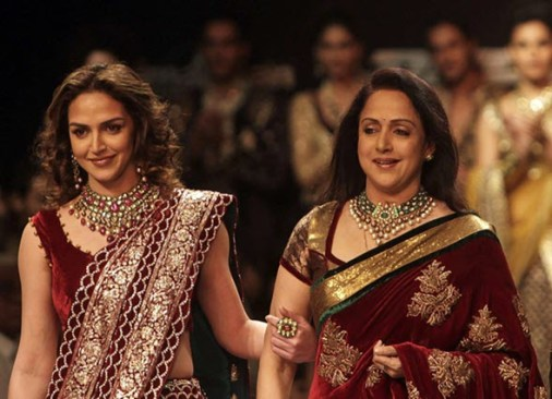 Hema Malini with daughter Esha Deol