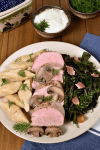 Polish Style Pork Tenderloin with Potato Dumplings | WednesdayNightCafe.com