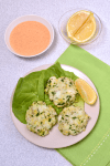 Baked Cod Cakes with Roasted Red Pepper Sauce| WednesdayNightCafe.com
