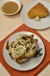 Roast Cornish Hens with Maple Butter Skillet Cornbread| WednesdayNightCafe.com