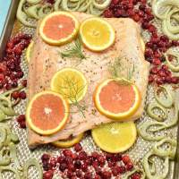 Roast Salmon with Fennel