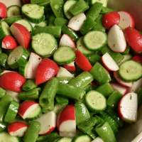 Radish Salad with Cucumbers and Sugar Snap Peas