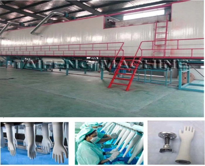 Disposable Medical Latex / Nitrile Hand Gloves Production Line 2