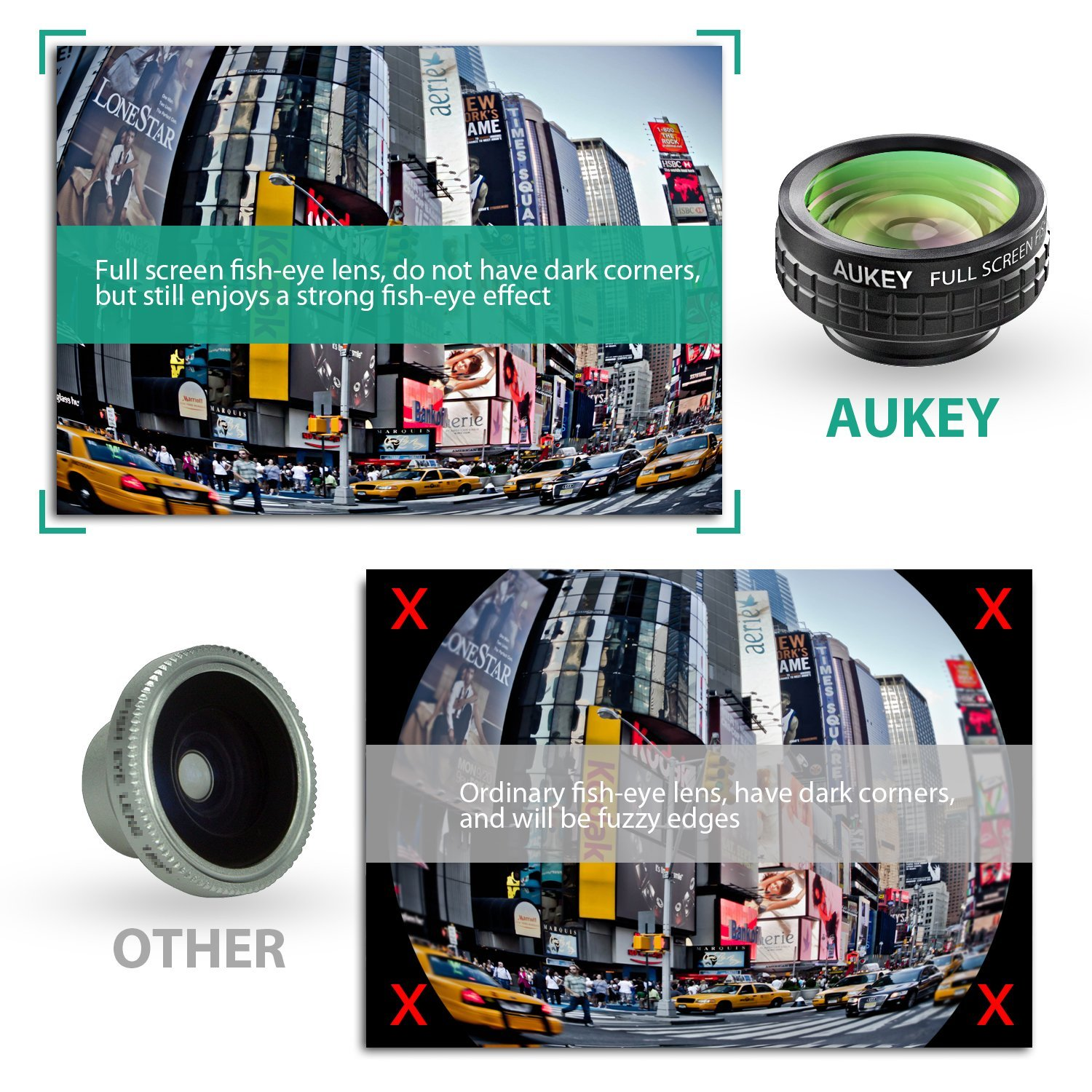 Aukey 3 in 1 lenses