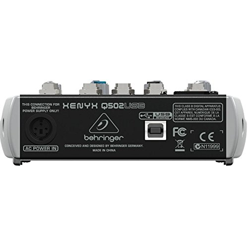Behringer Q502usb mixer back