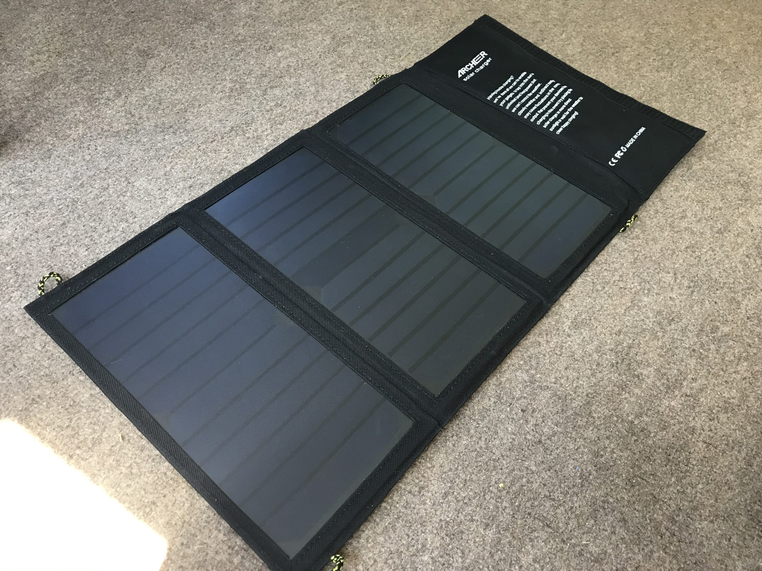 Portable Solar Charger Open