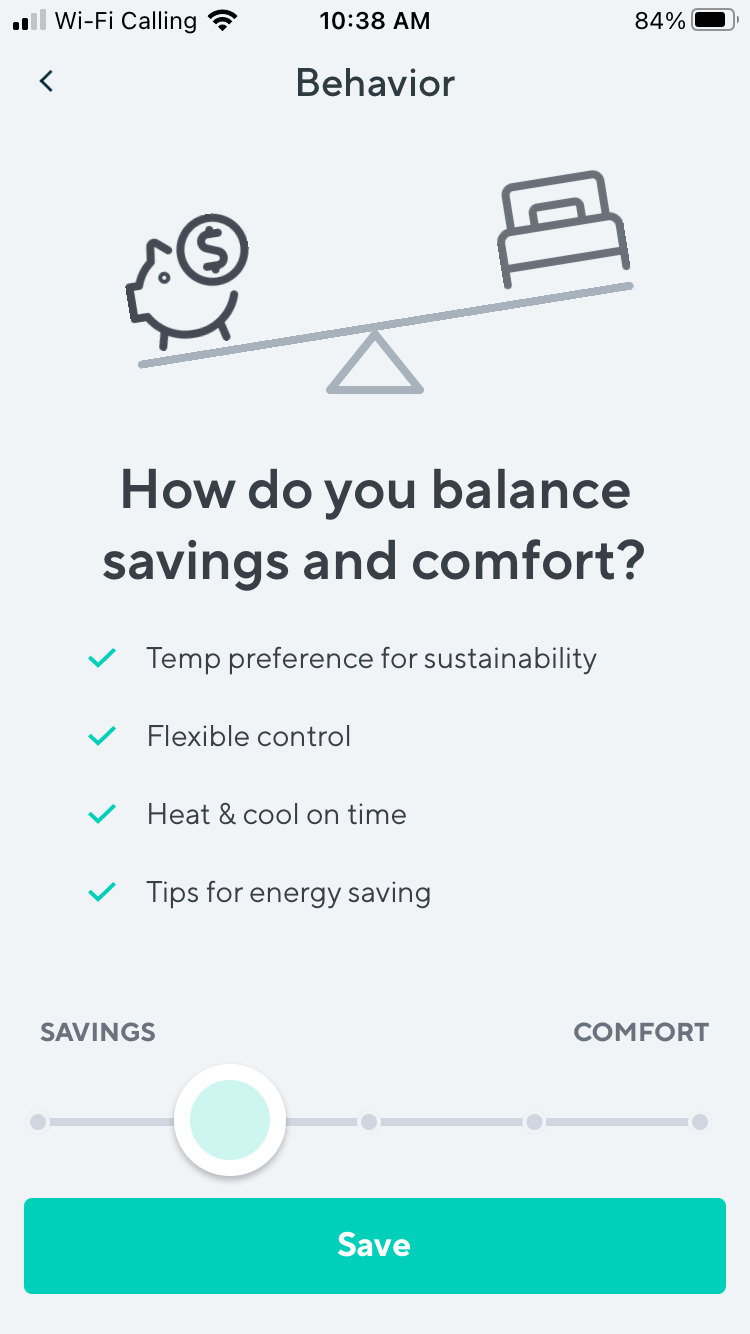 Wyze Thermostat Savings