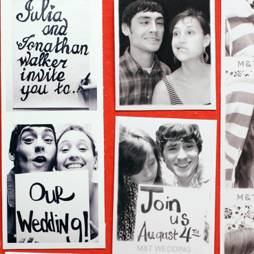 Do It Yourself Photo Booth Style Wedding Save The Dates And Vegas Invitations