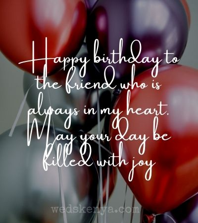 Birthday wishes for friend girl