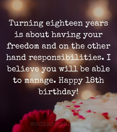 Happy 18th Birthday Wishes Messages Quotes In 2020 Weds Kenya