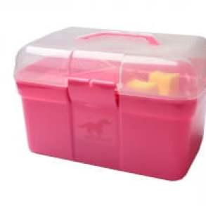 poetskoffer rijk gevuld hot pink
