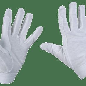 witte handschoenenpaardrij wedstrijd