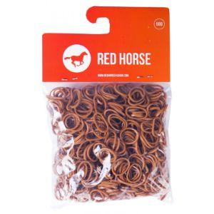 red horse invlecht elastiekjes bruin
