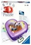 Ravensburger 3D puzzel Hartendoosje paarden 54 stukjes