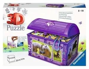 Ravensburger 3D puzzel schatkist paarden 216 stukjes