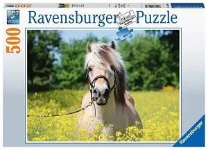 Ravensburger puzzel paard tussen de bloemen 500 stukjes