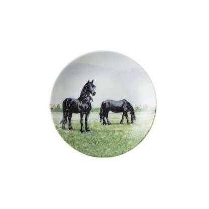 Wiebe van der Zee Petit four Wij Gevoel paard doos a 4 stuks Ø10,5cm porselein