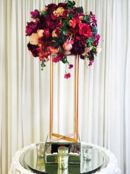 Copper Stand with Red & Burgundy Flowers -2 - Copy