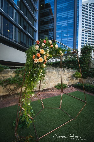 Copper Geometric Arbour (2)