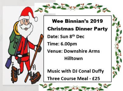 Wee Binnian Christmas Dinner
