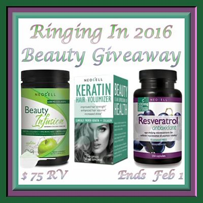 Enter to #WIN a $75 Prize Package in the Ringing In 2016 Beauty #Giveaway by Feb 1st
