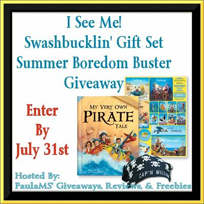 I See Me! Swashbucklin' Gift Set Summer Boredom Buster #Giveaway Ends 7/31 #iseemebooks @ISeeMe_Books