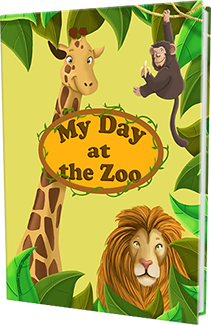 KD Novelties A Day at the Zoo Personalized Children's Book