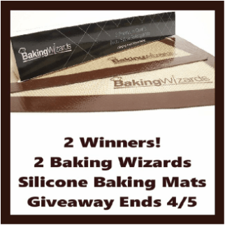 Enter to be 1 of 2 Winners of 2 Silicone Mats in the in the #BakingWizards Giveaway before it ends April 5th!