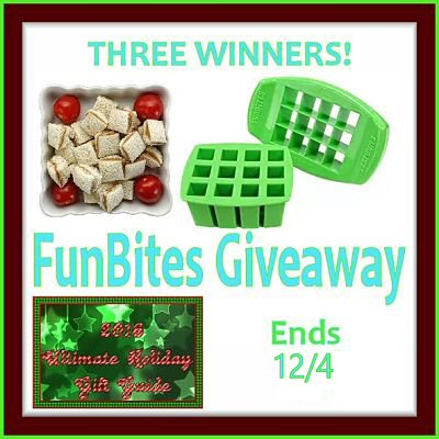3 WINNERS! FunBites Kids Food Cutter #Giveaway Ends 12/4 Join Me 4 a Chance 2 #WIN