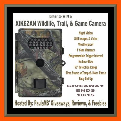 Capture Wildlife - Enter to #WIN this #XIKEZAN Game & #TrailCamera before this #Giveaway ends on 10/15
