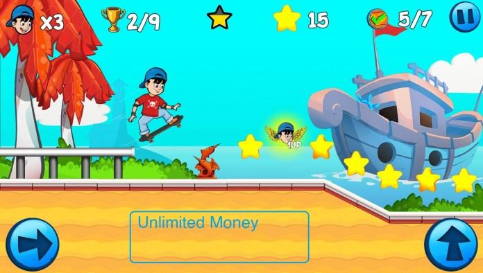 screenshot of skater kId Mod Apk)