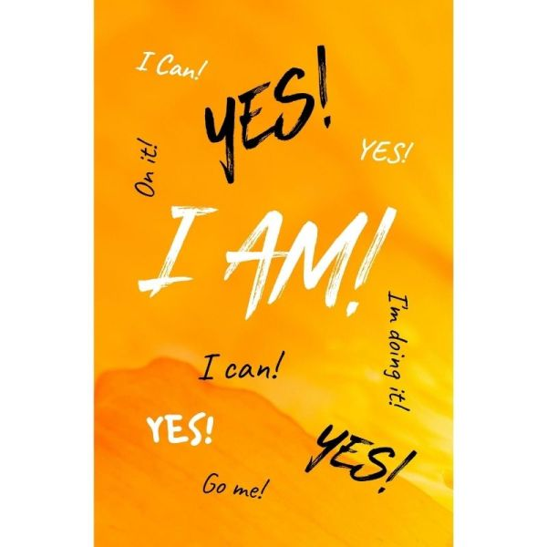 Yes! I Can! I Am! Lined Notebook Cheery Cover