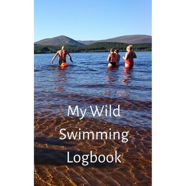 My Wild Swimming Logbook - Sunny Mountains Cover Design