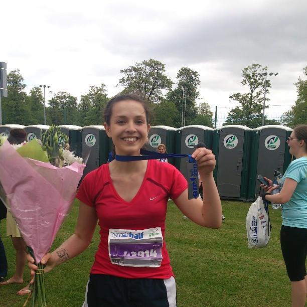 Edinburgh half marathon in 2013! Not so fit these days..