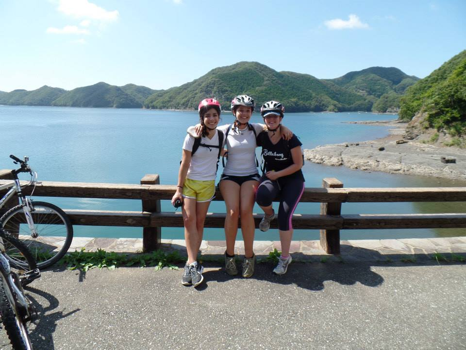 On a cycling trip in Japan with my old co-worker Michelle and our friend Casey :)