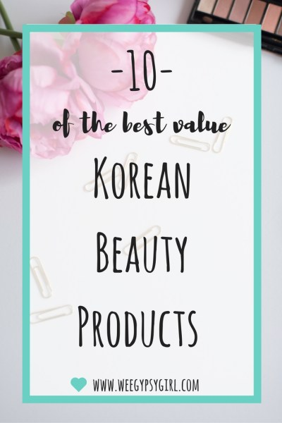 10 of the best value korean beauty products