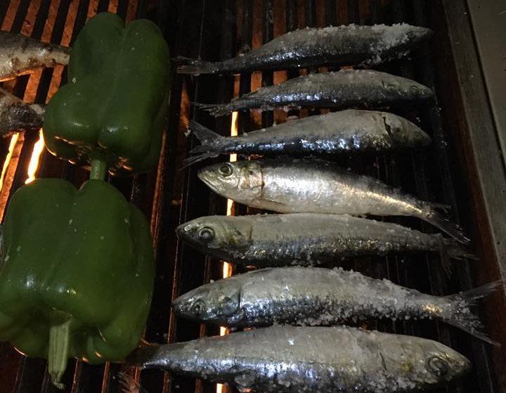 Sardines grillees au restaurant Comme Ca - Porto