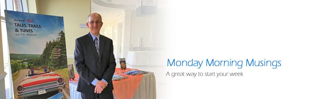Week 45: Monday Morning Musings