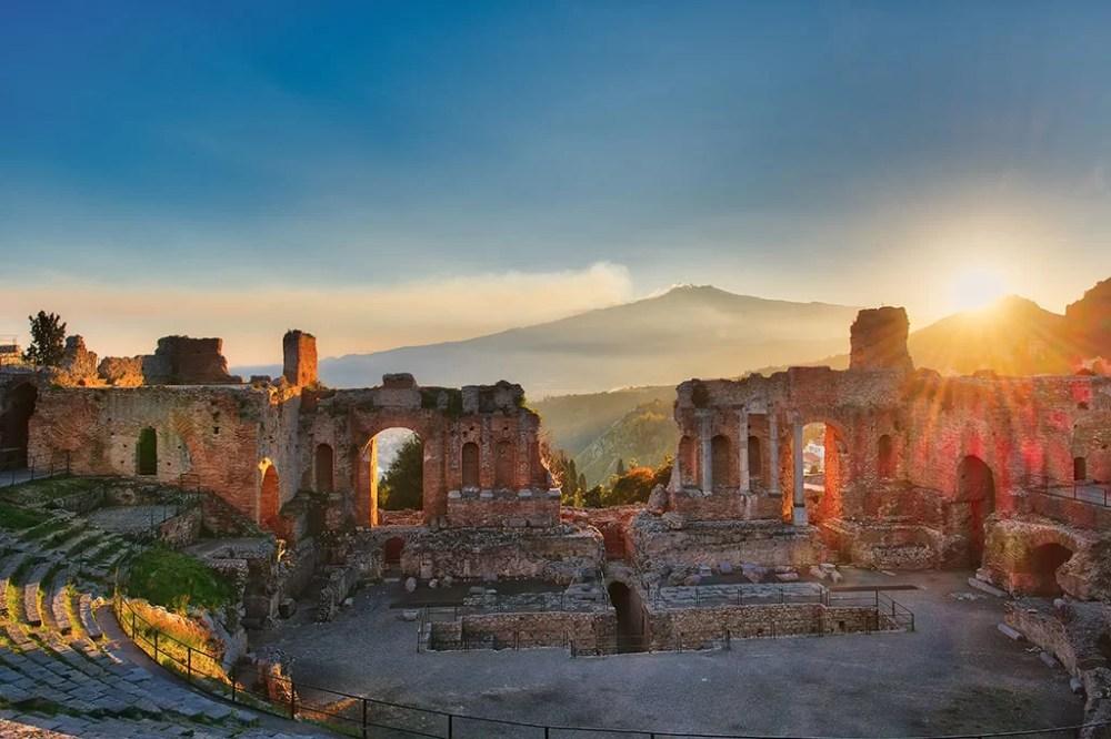 taormina theatre ancient Italy sicile