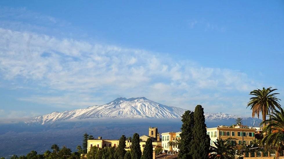 italy sicile taormina etna volcano