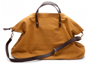 Canvas and Leather Weekender Bag from Cuyana ($120 + free shipping/returns)
