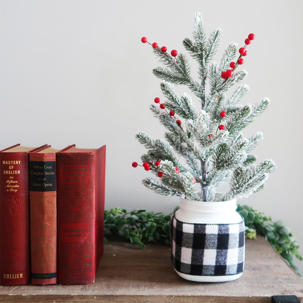 Mason Jar Christmas Tree Weekend Craft