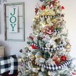 Flocked Buffalo Check Christmas Tree Weekend Craft