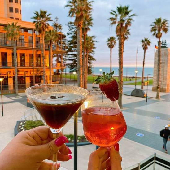 Glenelg Cocktails, Adelaide, Restaurant with a view