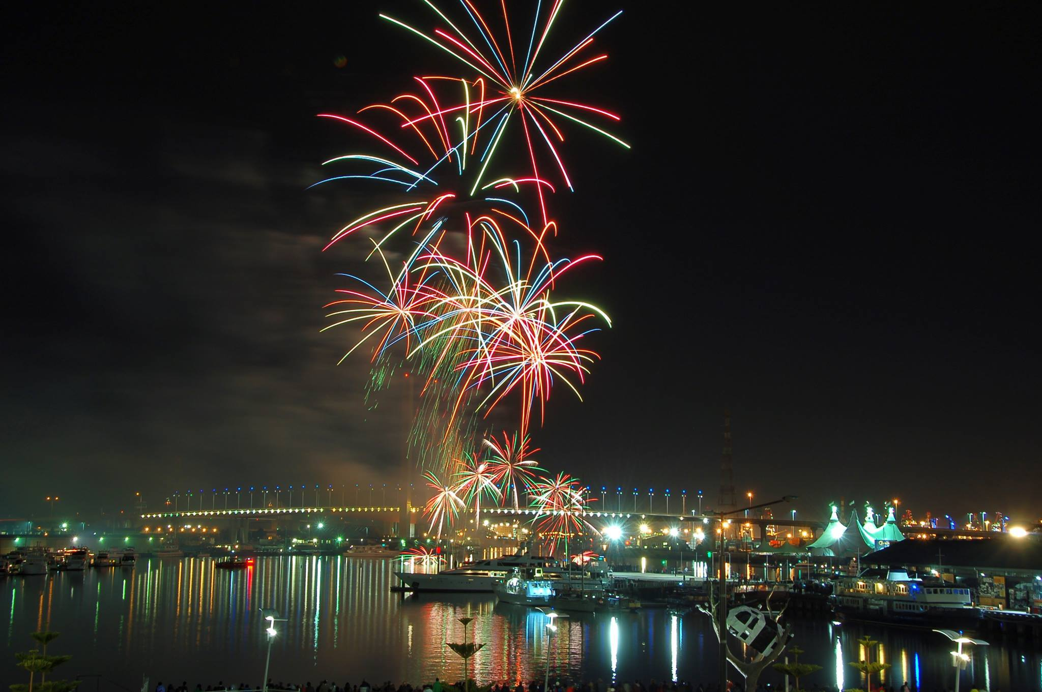 2014 Australia Day Fireworks At Docklands Melbourne