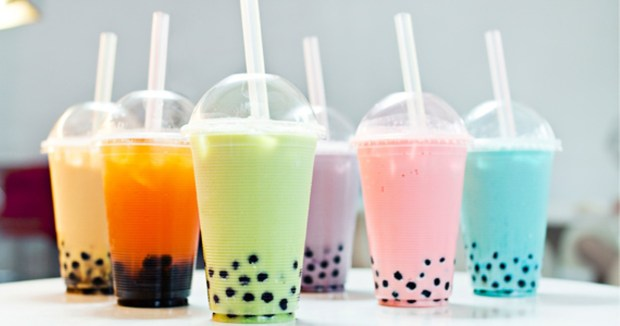 Bubble Tea Boba Tea Varieties Colorful Green Purple Blue Milk Coffee Pink Sydney