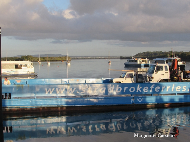 Stradbroke vehicle ferry Russell island
