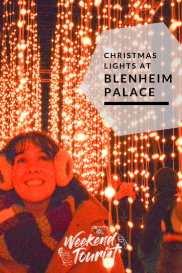 Christmas lights at Blenheim Palace